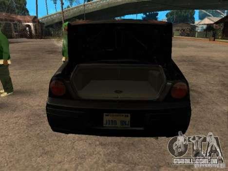 Chevrolet Impala Undercover para GTA San Andreas vista traseira