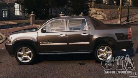 Chevrolet Avalanche Stock [Beta] para GTA 4 esquerda vista
