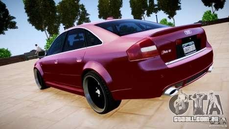 Audi RS6 para GTA 4 vista interior