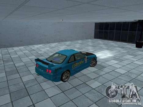 Nissan Skyline R 33 GT-R para GTA San Andreas traseira esquerda vista