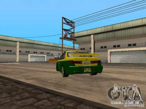 Toyota Camry Thailand Taxi para GTA San Andreas traseira esquerda vista