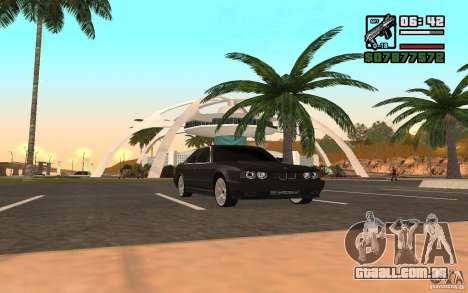 BMW 535i para GTA San Andreas traseira esquerda vista