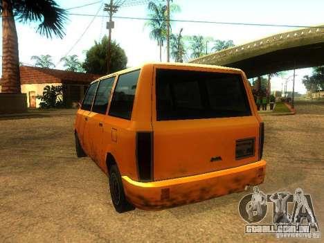 Taxi Moonbeam para GTA San Andreas traseira esquerda vista