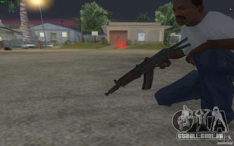 AKS-74U para GTA San Andreas por diante tela