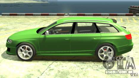 Audi RS6 Avant 2010 Stock para GTA 4 esquerda vista