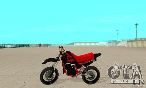 DT 180 Motard para GTA San Andreas traseira esquerda vista