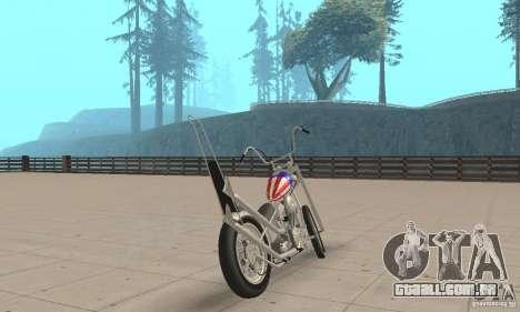 Captain America Chopper para GTA San Andreas esquerda vista
