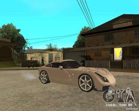 TVR Sagaris para GTA San Andreas vista direita