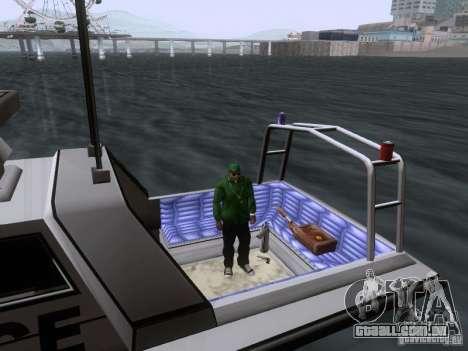 NEW Predator para GTA San Andreas vista interior