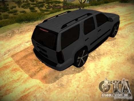 Chevrolet Tahoe HD Rimz para GTA San Andreas vista traseira