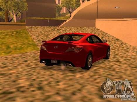 Hyundai Genesis Coupé 3.8 Track v 1.0 para GTA San Andreas esquerda vista