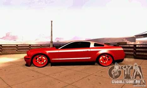Shelby GT500 KR para GTA San Andreas vista interior