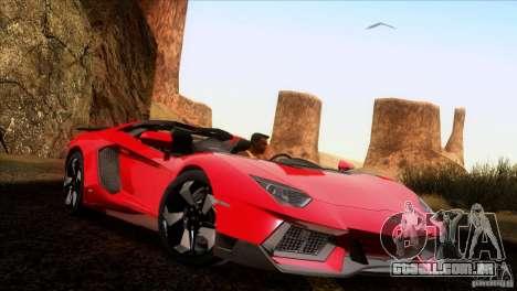 Lamborghini Aventador LP-700 J para GTA San Andreas vista traseira