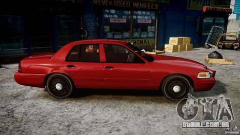 Ford Crown Victoria Detective v4.7 red lights para GTA 4 vista de volta