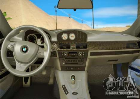 BMW M3 GT-S Final para GTA San Andreas vista superior