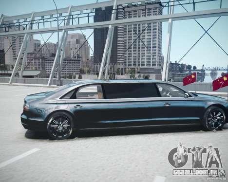 Audi A8 Limo para GTA 4 vista de volta