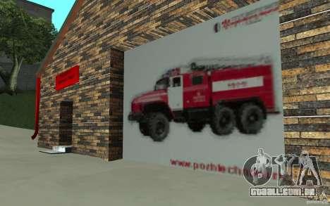 Estação de fogo russa em San Fierro para GTA San Andreas terceira tela