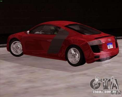 Audi R8 Production para GTA San Andreas esquerda vista