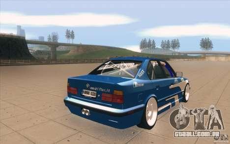 BMW E34 V8 para vista lateral GTA San Andreas