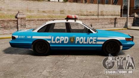 Vapid Police Cruiser ELS para GTA 4 esquerda vista
