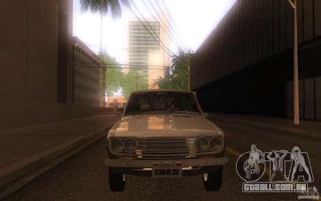 Datsun 510 4doors para GTA San Andreas vista interior