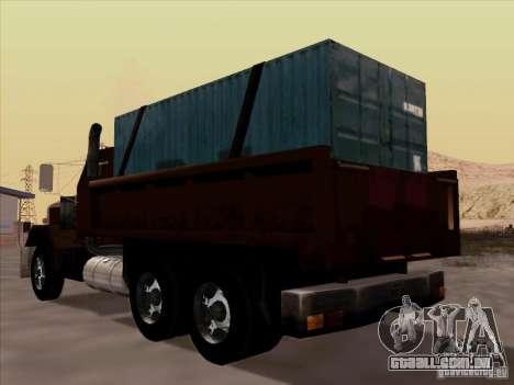 New Flatbed para GTA San Andreas vista traseira