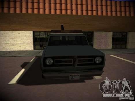 Caminhão de reboque de Sadler para GTA San Andreas vista direita
