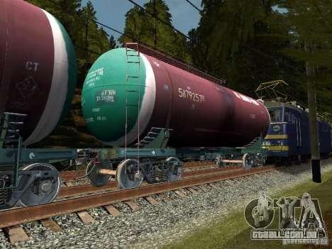 Vagão tanque n. º 51179257 para GTA San Andreas esquerda vista