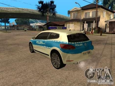 Volkswagen Scirocco German Police para GTA San Andreas esquerda vista