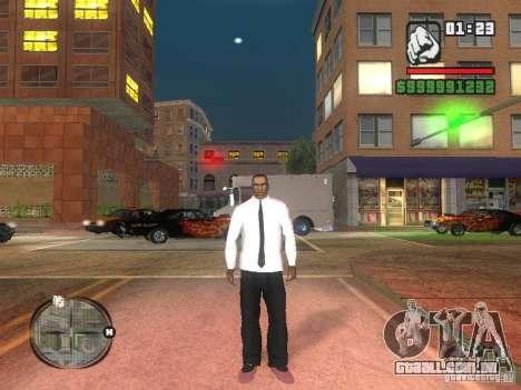 Camisa com gravata para GTA San Andreas segunda tela