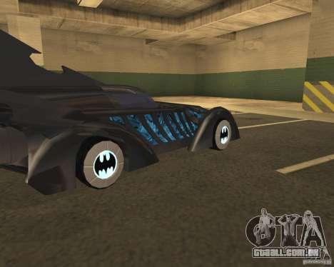 Batmóvel para GTA San Andreas traseira esquerda vista