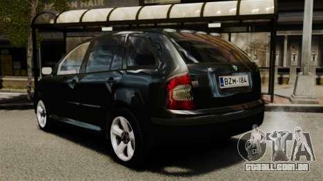 Skoda Fabia Combi Unmarked ELS para GTA 4 traseira esquerda vista