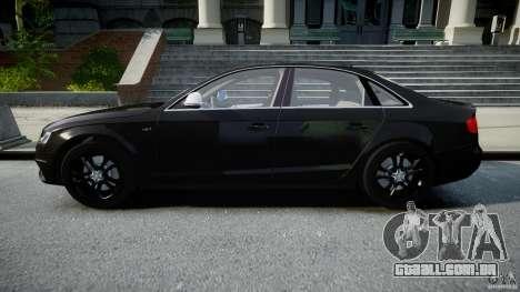 Audi S4 Unmarked [ELS] para GTA 4 esquerda vista