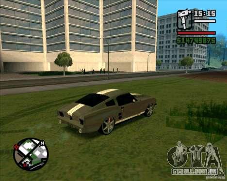 Ford Mustang 67 HotRot para GTA San Andreas traseira esquerda vista