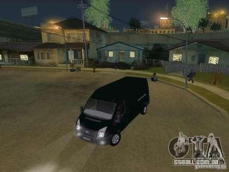 Ford Transit 350L para vista lateral GTA San Andreas
