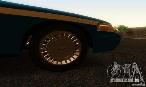 Ford Crown Victoria Wisconsin Police para GTA San Andreas vista direita