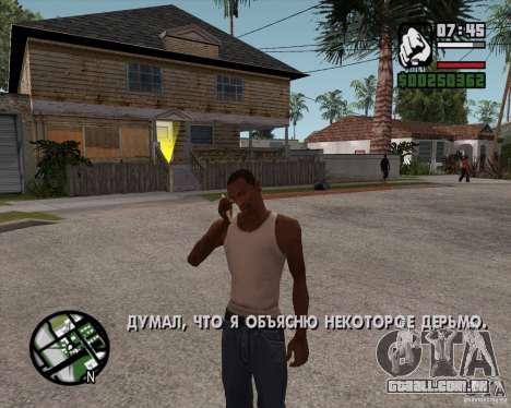NES para GTA San Andreas segunda tela
