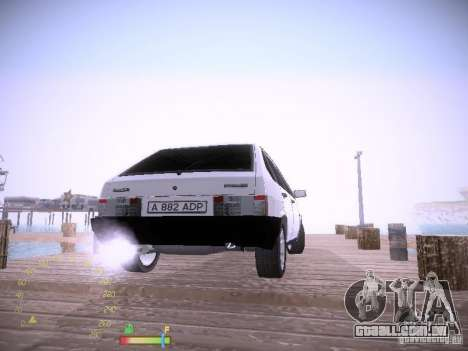 2109 Vaz para GTA San Andreas traseira esquerda vista