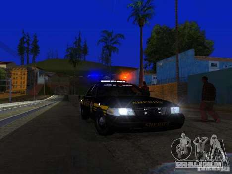 Ford Crown Victoria Erie County Sheriffs Office para GTA San Andreas interior