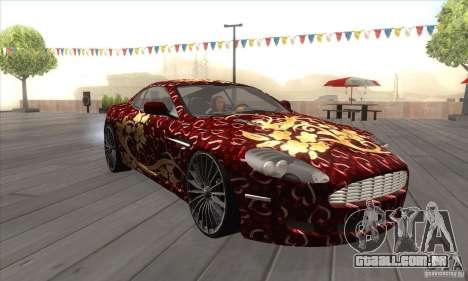 Aston Martin DB9 Female Edition para GTA San Andreas vista traseira