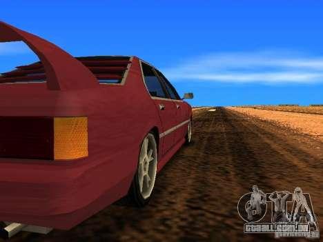 Sentrel Mini Tuning para GTA San Andreas traseira esquerda vista