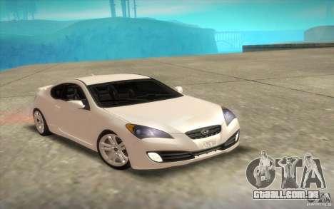 Hyundai Genesis 3.8 Coupe para GTA San Andreas vista superior