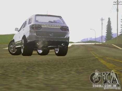 Dodge Durango 2012 para GTA San Andreas vista interior
