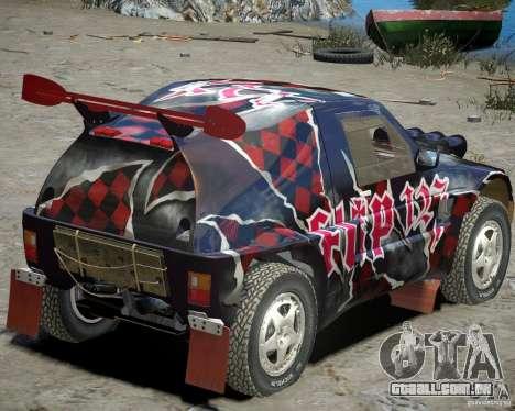 Mitsubishi Pajero Proto Dakar vinil 3 para GTA 4 vista direita