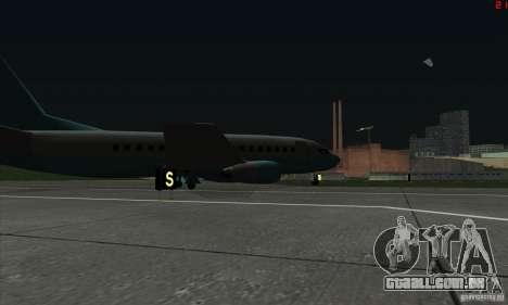 AT-400 em todos os aeroportos para GTA San Andreas sexta tela