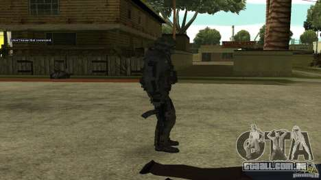 Roach from CoD MW2 para GTA San Andreas terceira tela