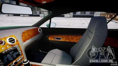 Bentley Continental GT para GTA 4 vista interior
