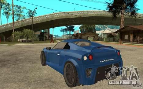 Mastretta MXT v1.1 para GTA San Andreas traseira esquerda vista