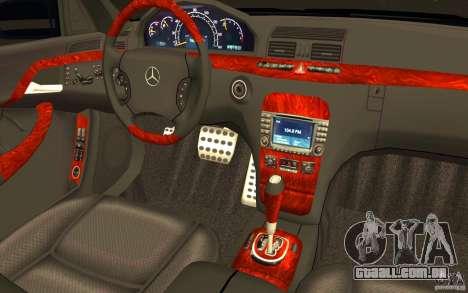 Mercedes-Benz S600 Pullman W220 para GTA San Andreas vista superior