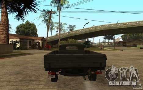 UAZ 300 para GTA San Andreas traseira esquerda vista